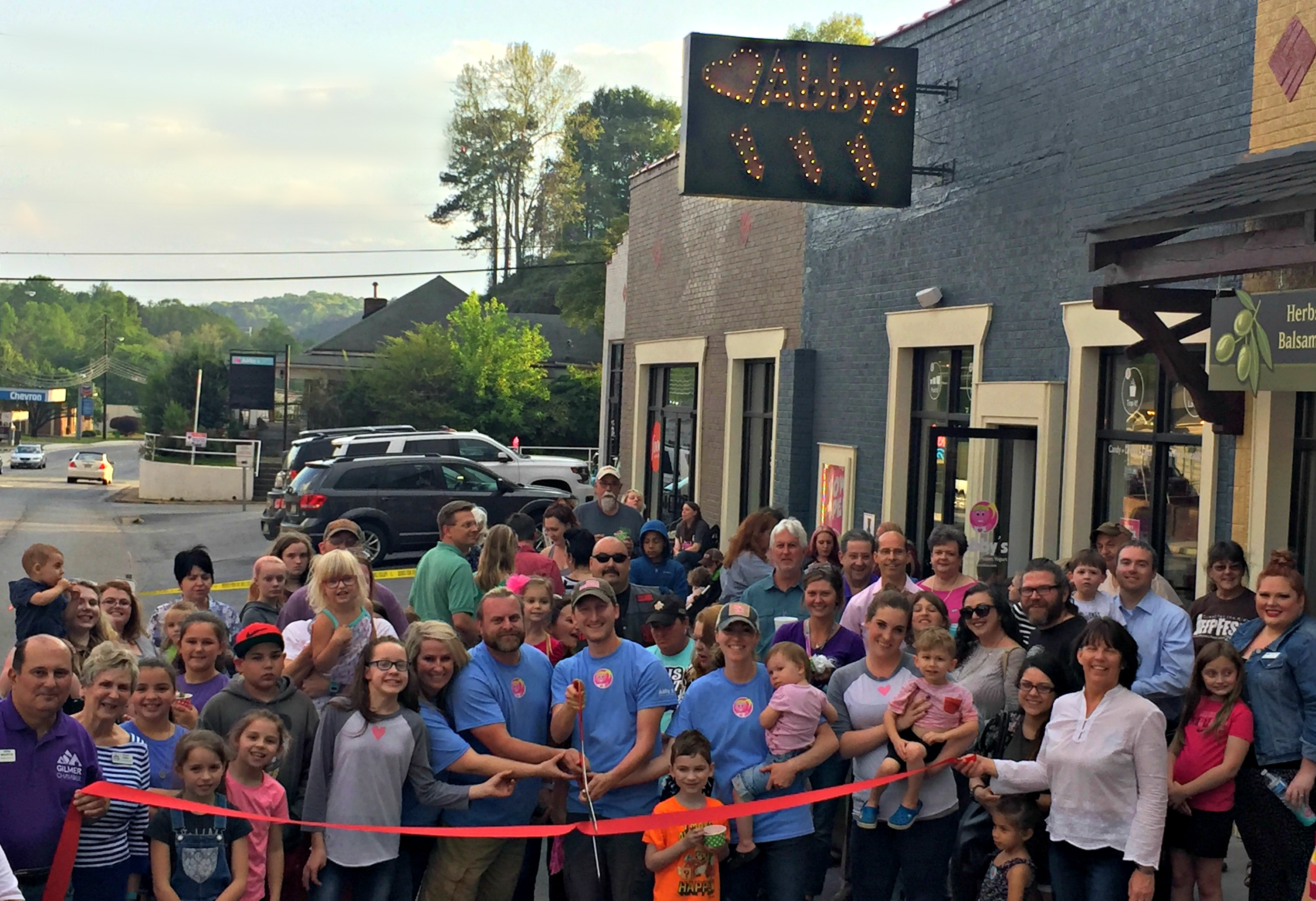 Abbys-Ribbon-Cutting Ribbon Cutting for Abby's Ice Cream and Frozen Yogurt - Gilmer County Chamber of Commerce