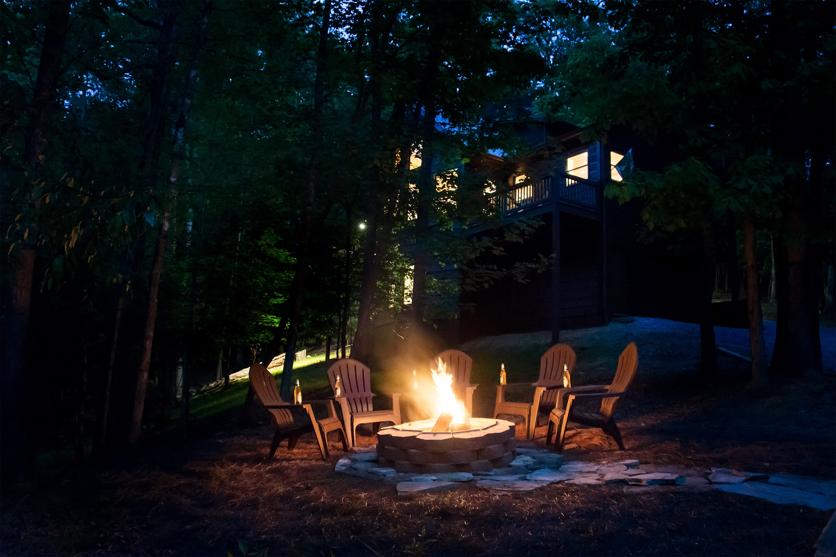 Buck-Valley-Lodge-90_Firepit_night The Perfect Cabins for Your Family Vacation in Ellijay - Gilmer County Chamber of Commerce