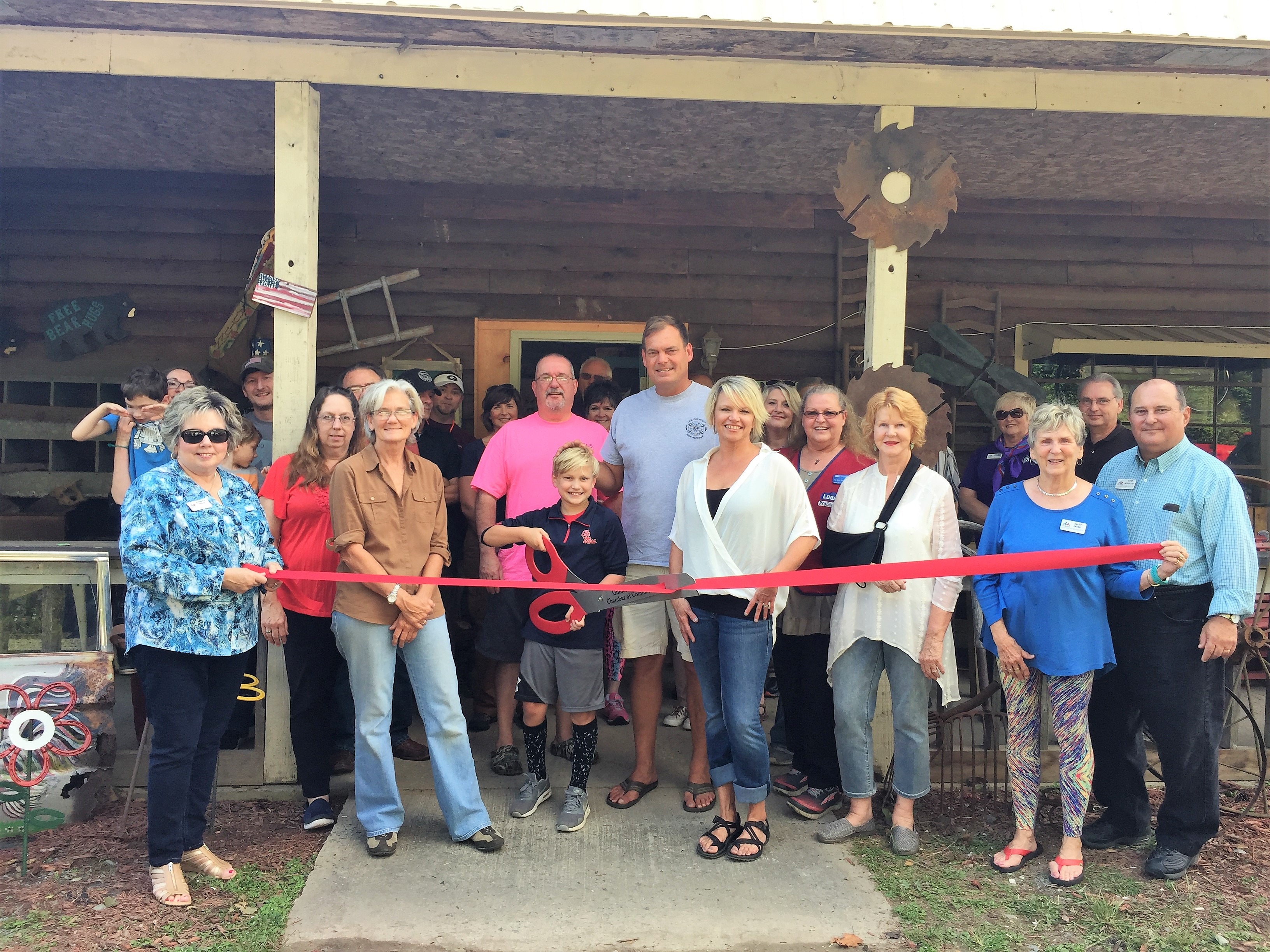 Photo-Sep-15-4-44-36-PM Ribbon Cutting for The River Roost Antiques - Gilmer County Chamber of Commerce