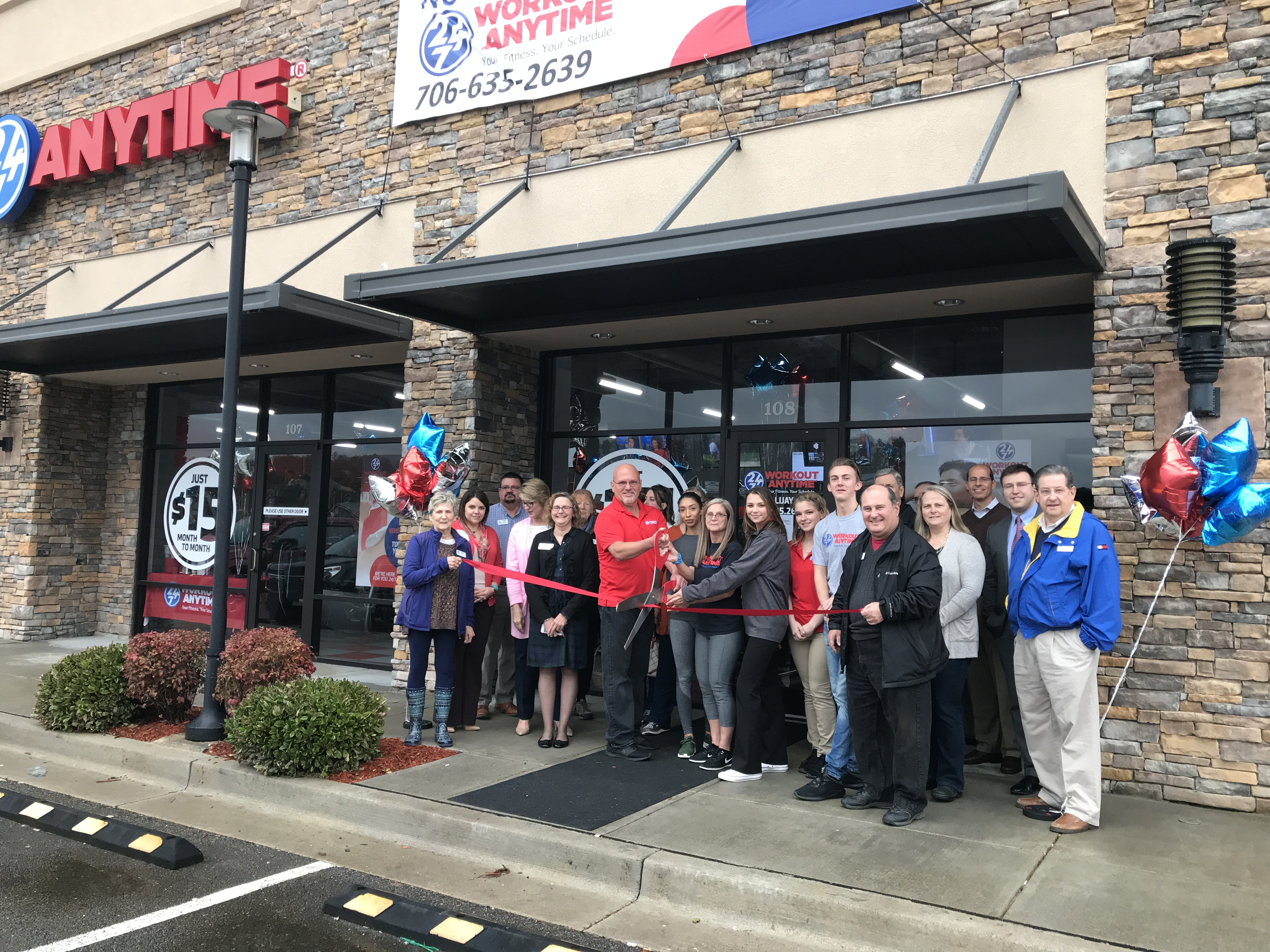 Ribbon Cutting for Workout Anytime Ellijay - Gilmer County