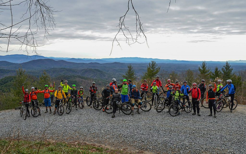 Cartecay Bike Shop New Years Ride Bear Creek Trail Ellijay
