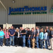 Ribbon Cutting for James Thomas Heating and Cooling